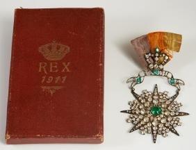 Mardi Gras- Krewe of Rex Ducal Badge, 1911, theme of