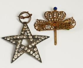 Mardi Gras- Krewe of Rex Ducal Badge, 1894, theme of