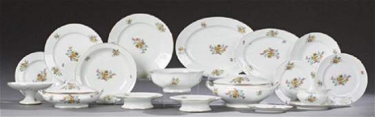 French SeventyThree Piece Limoges Porcelain Dinnerware