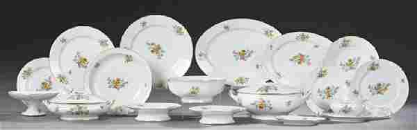 French Seventy-Three Piece Limoges Porcelain Dinnerware