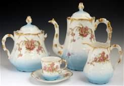 TwentyFive Piece French Limoges Porcelain Tea Set c