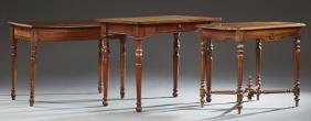 Group of Three French Writing Tables, late 19th c.,