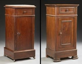Two French Louis Philippe Nightstands, 19th c., one of
