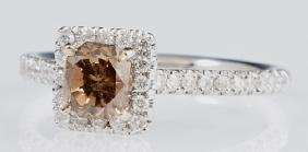 Lady's 18K White Gold Dinner Ring, with a .81 carat