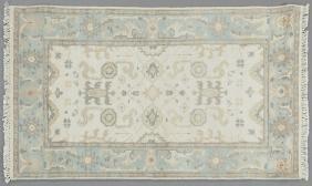 Turkish Angora Oushak Carpet, 3' x 4' 10.