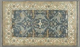 Turkish Angora Oushak Carpet, 4' x 6' 1.