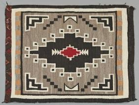 Two Grey Hills Navajo Carpet, 3' 8 x 4'.