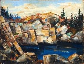 "Lewis Scott Croft (1911-1980, Massachusetts), ""Cubist"