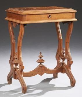 American Eastlake Carved Walnut Side Table, c. 1890,