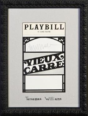 """Playbill for a Production of """"Vieux Carre,"""" by"""