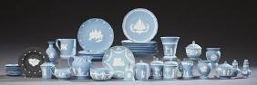 Forty-Four Pieces of Wedgwood Jasperware, 20th c.,