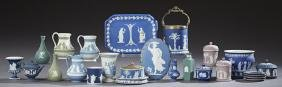 Group of Twenty-Six Pieces of Wedgwood Jasperware, 20th