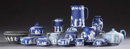 Group of Fourteen Pieces of Wedgwood Jasperware, 1900