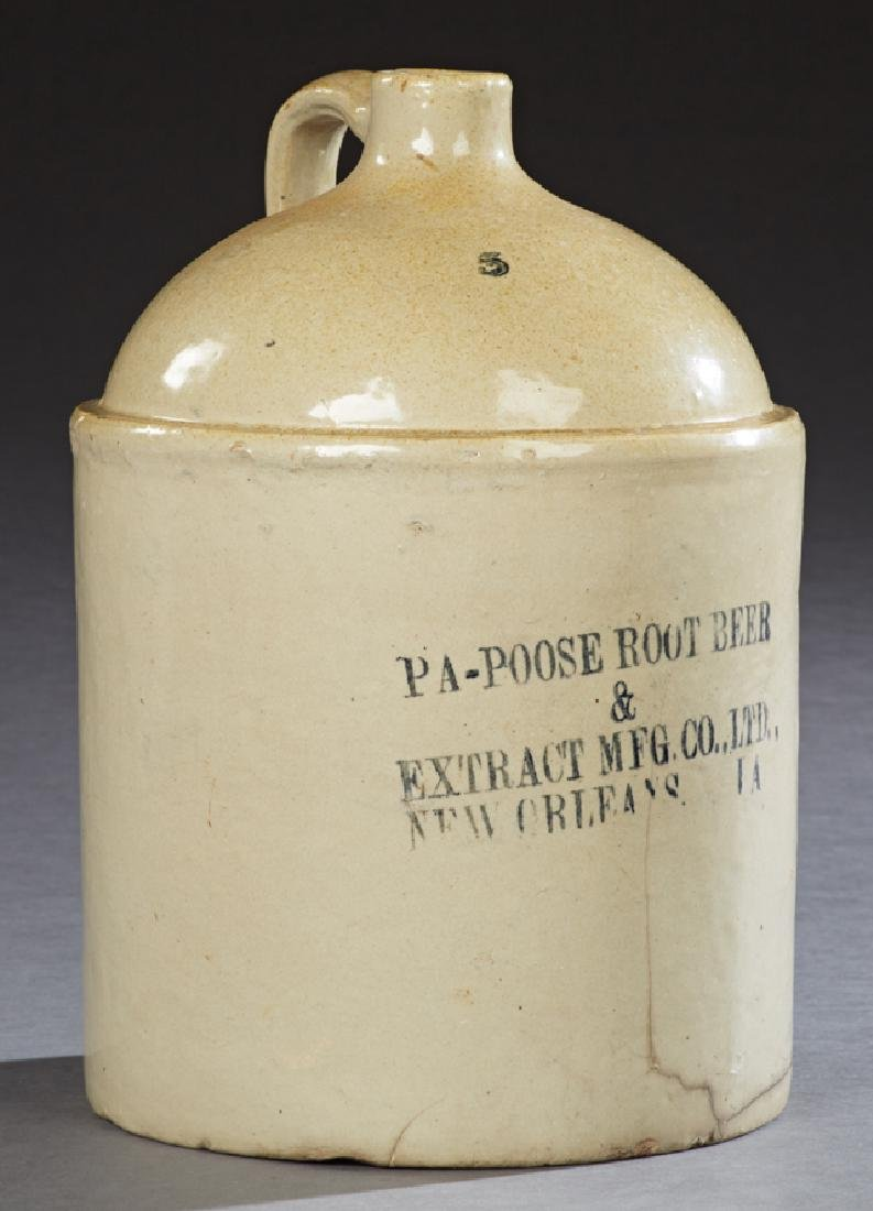 Large No. 5 Stoneware Jug, 19th c., for Pa-Poose Root