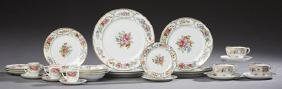 Sixty-Two Piece Set of Porcelain Dinnerware, early 20th