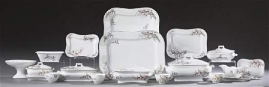 Ninety-Eight Piece Set of English Porcelain Dinnerware,