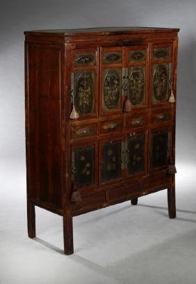 Chinese Export Ming Style Polychromed Fruitwood