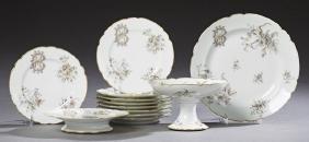 Twelve Piece Porcelain Partial Dessert Service, 19th