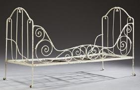 """French Folding Iron """"Campaign"""" Bed, late 19th c., with"""