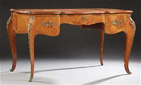 French Louis XV Style Inlaid Ormolu Mounted Desk early