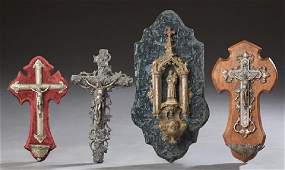 Group of Four French Religious Items, early 20th c.,