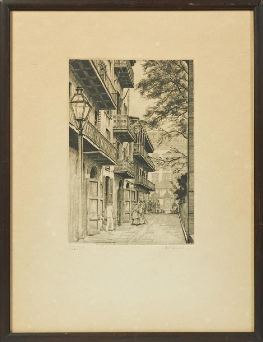 """Morris Henry Hobbs (1892-1967), """"Pirates Alley, Old New"""