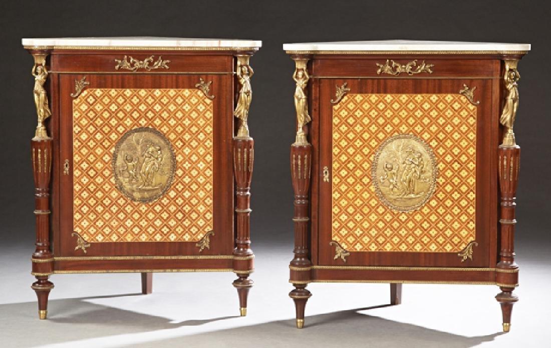 Pair of French Belle Epoque Louis XVI Style Bronze