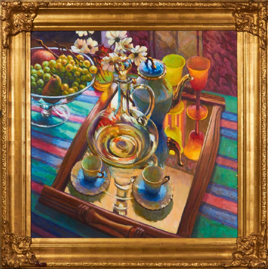 """William Michaut (1947- ), """"Still Life of a Table with"""