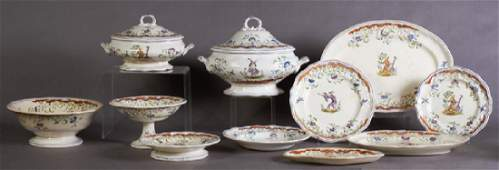 Forty-Nine Piece Set of French Provincial Ceramic