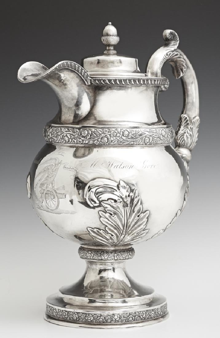 Rare .900 Silver Presentation Pitcher, 1825, from the