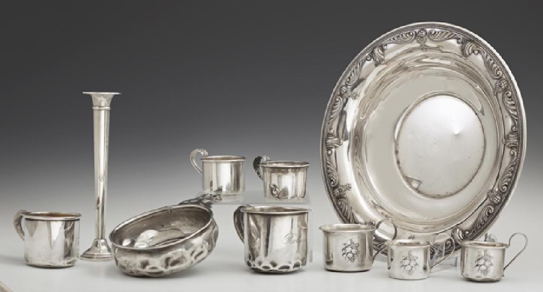 Group of Nine Sterling Pieces, consisting of a