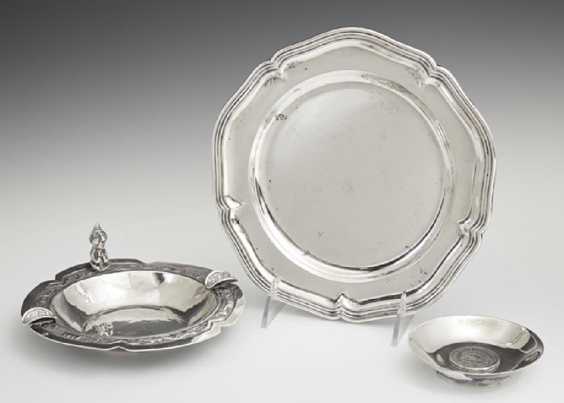 Three Pieces of Silver, 20th c., consisting of a
