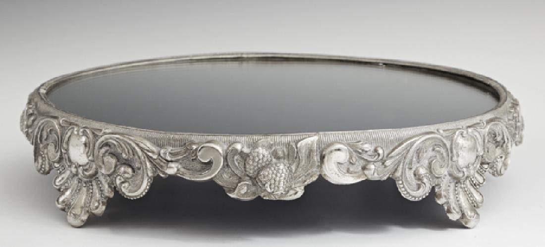 Silverplated Circular Plateau, early 20th c., the