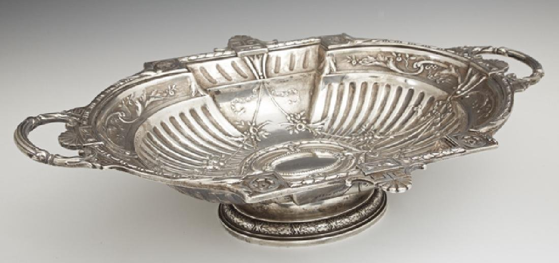 French Silverplated Center Bowl, early 20th c., the