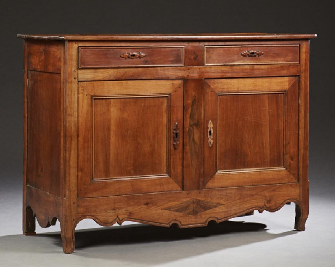 French Louis XV Style Carved Cherry Sideboard, c. 1850,