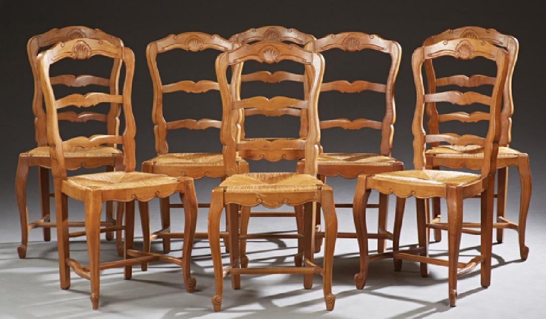 Set of Eight French Provincial Louis XV Style Carved