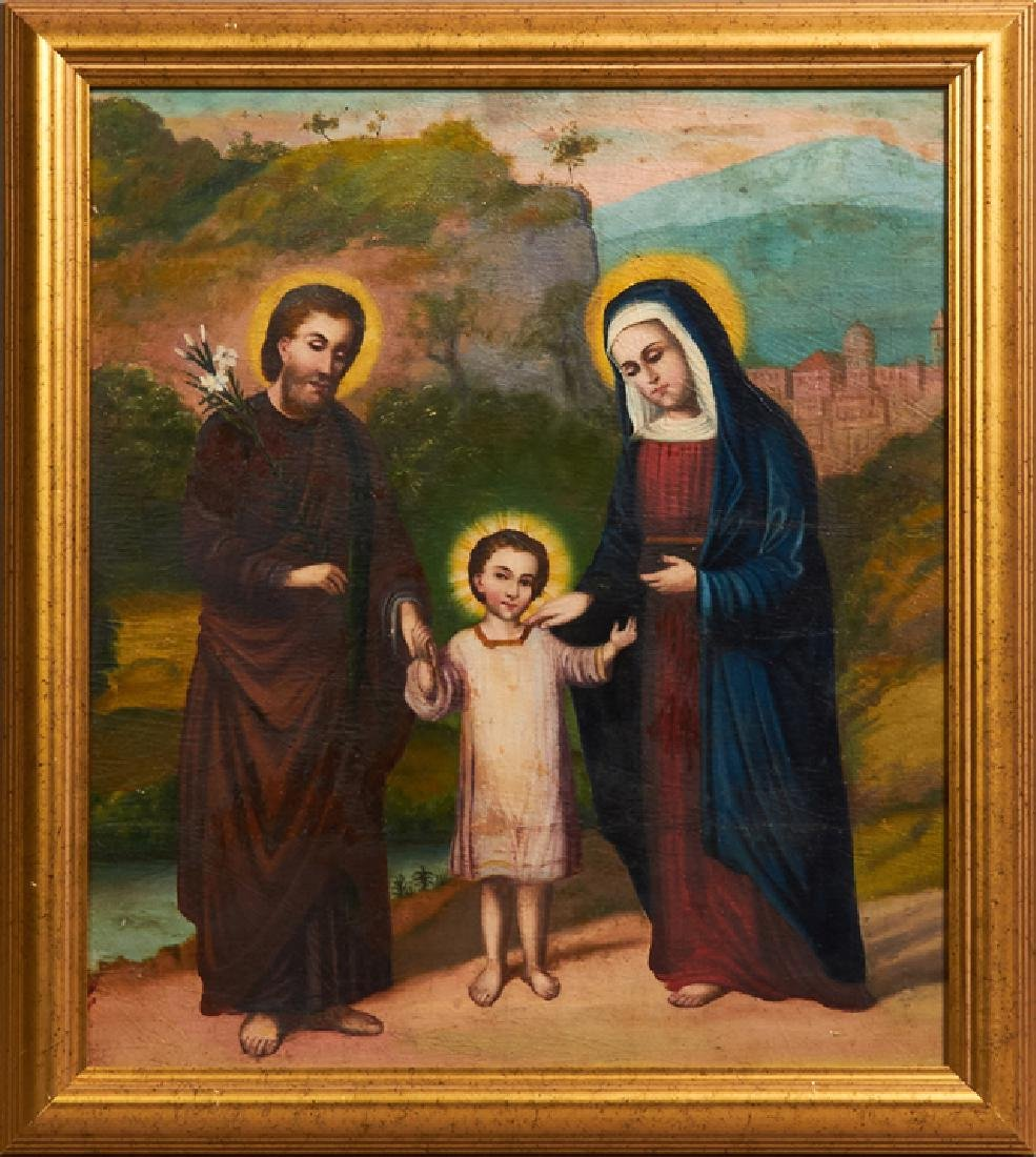 """Continental School, """"The Holy Family,"""" late 19th c.,"""