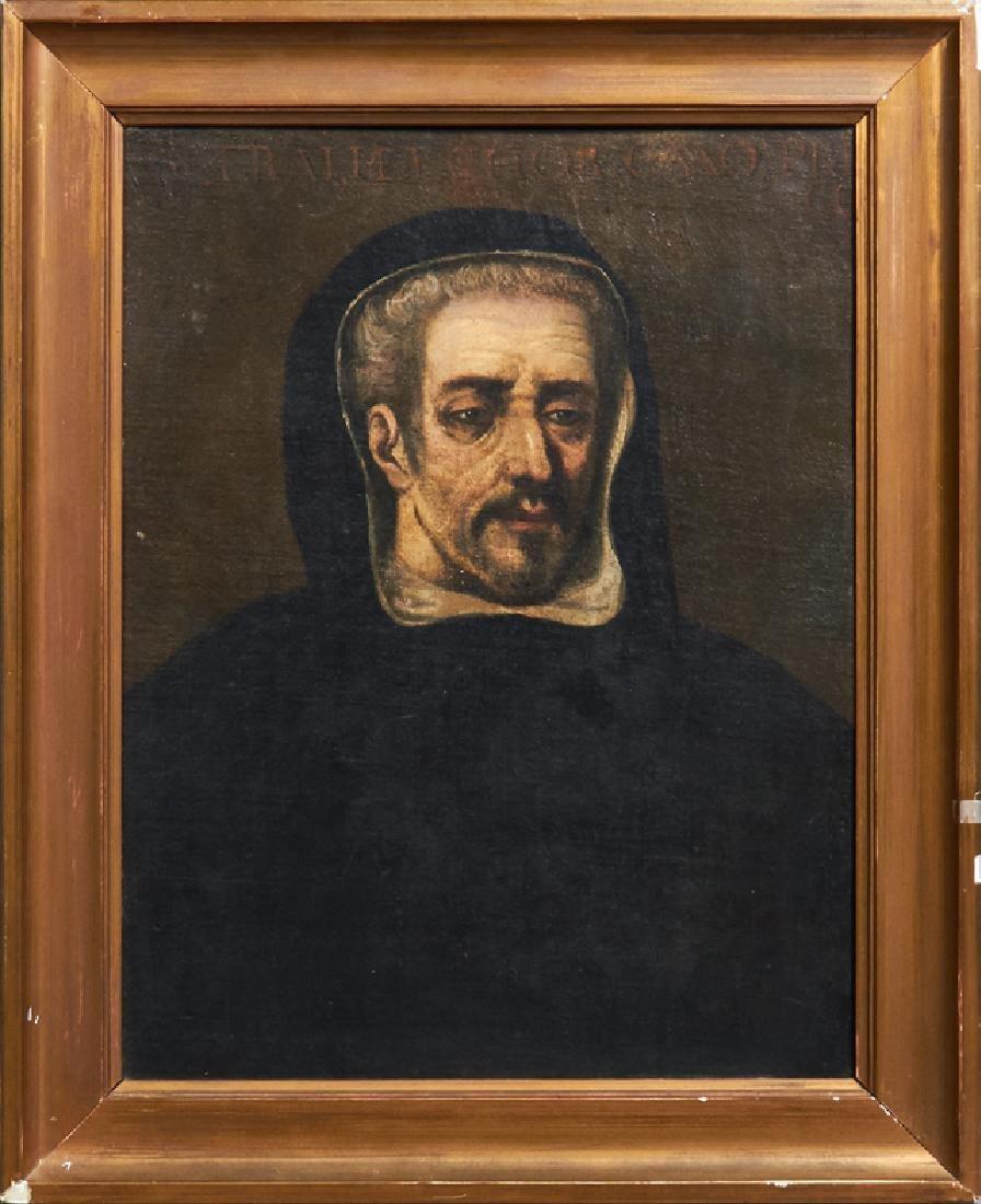 "Spanish School, ""Portrait of a Monk, â€18th c., oil"