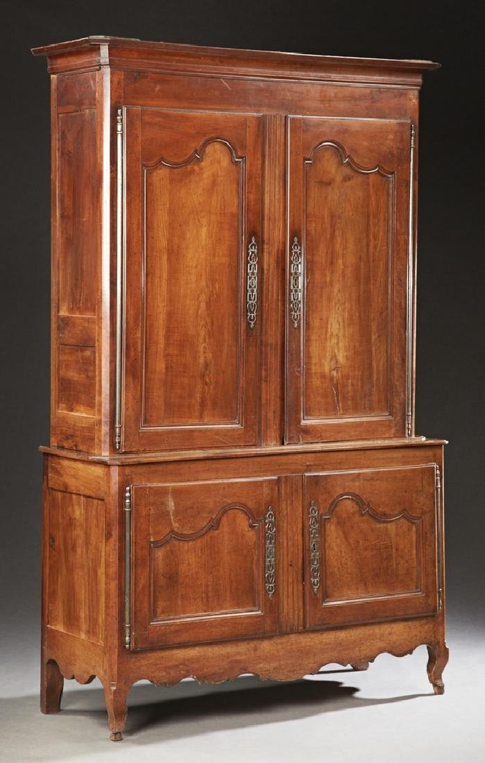 French Louis XV Style Carved Cherry Buffet a Deux