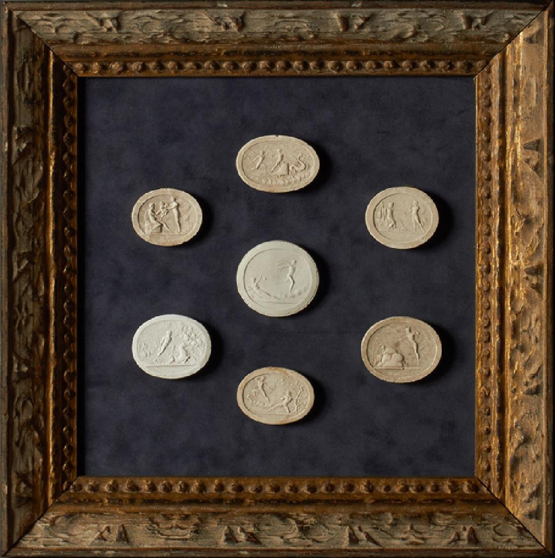 Group of Seven Plaster Intaglios, 19th c., Grand Tour