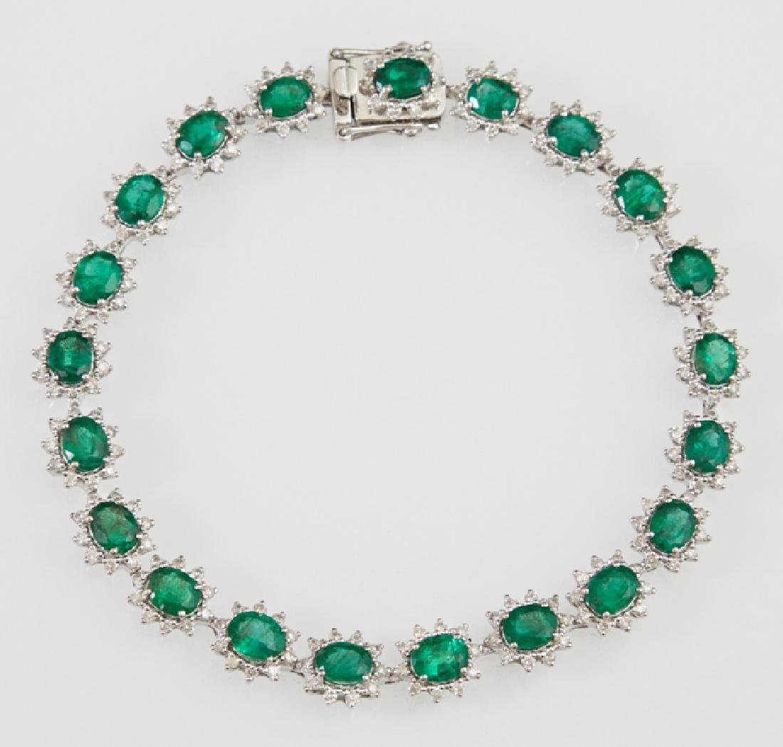 Platinum Link Bracelet, each of the 21 links with an
