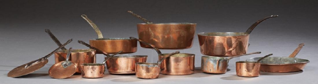 Group of French Copper Cookware, early 20th c.,