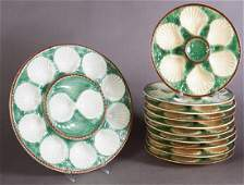 Twenty-Five Piece French Ceramic Oyster Set, early 20th