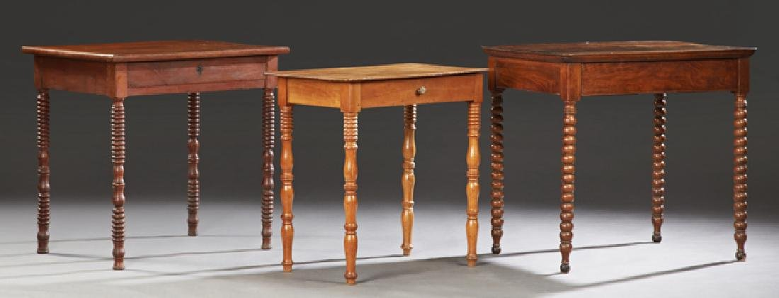 Group of Three French Writing Tables, 19th c.,