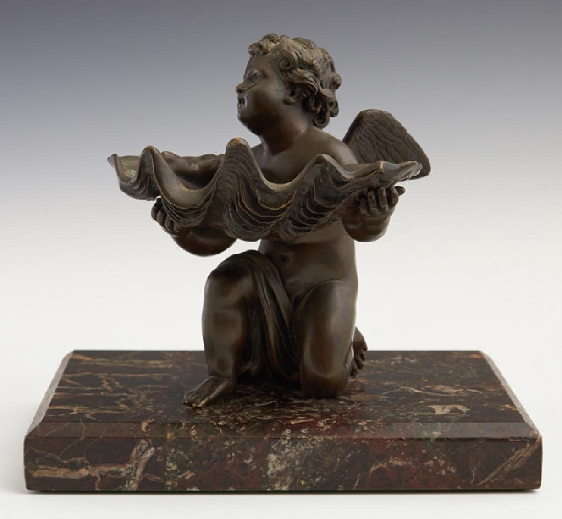 "Continental School, ""Putto Holding a Large Shell,"" 19th"