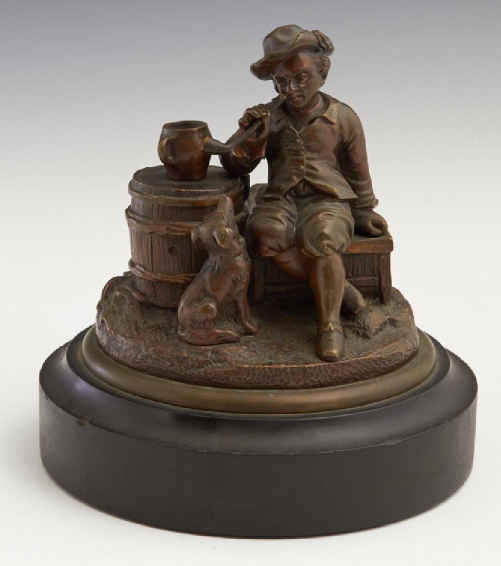 "French School, ""Reville,"" 19th c., patinated bronze"