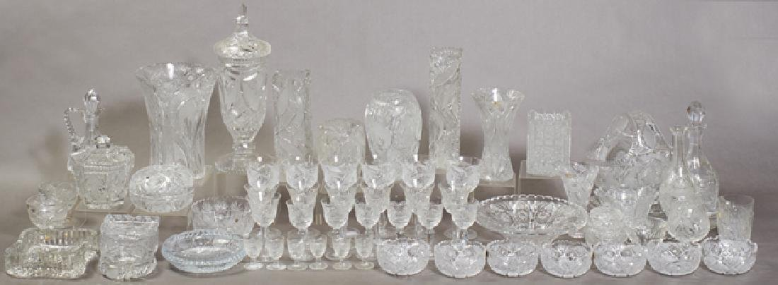 Group of Sixty-Three Pieces of Continental Crystal,