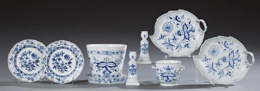 Group of Nine Pieces of Meissen Blue and White