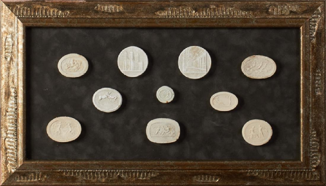 Group of Ten Plaster Intaglios, 19th c., Grand Tour