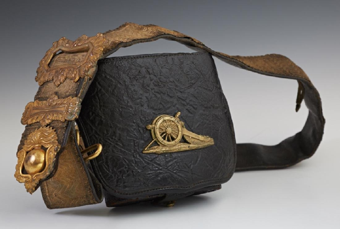 British Artillery Officer's Leather Field Belt, 19th or